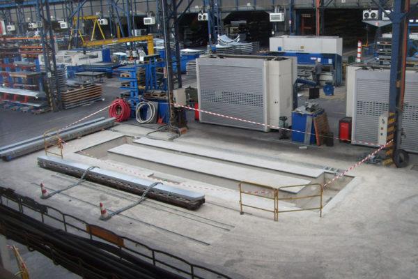 PRIVE-Construction d'un socle pour plieuse en béton armé fondé sur micropieux