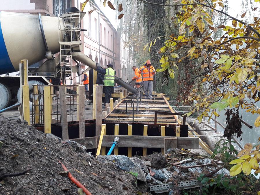 Reconstruction de l'OA2 sur le canal usinier
